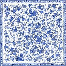 4x Paper Napkins for Decoupage Decopatch Blue Regal Peacock  Flowers