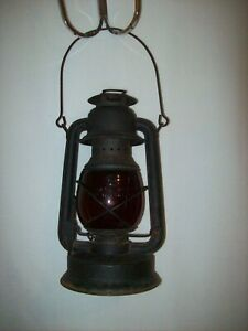 Vintage Little Supreme No.150 Embury Kerosene Lantern Lamp Dietz Red Globe