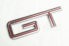1PCS RED LINE SLIVERY GT MUSTANG STICKER EMBLEM BADGE CAR BODY REAR TRUNK LID