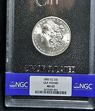 1883-CC MS65 Carson City GSA Hoard Morgan Silver Dollar Original Case & COA FS