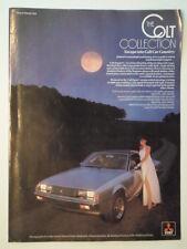 MITSUBISHI RANGE orig 1979 UK Mkt Sale Brochure - Lancer Celeste Sigma Hatchback