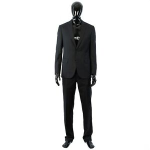 BRIONI 5700$ Black Madison Suit From Super 160s Virgin Wool