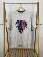VTG 90s Saint Louis University School Of Medicine Crest Two Tone T-Shirt Size L