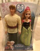 Disney Anna Kristoff Doll Frozen Arendelle Dolls New, Mattel, UK