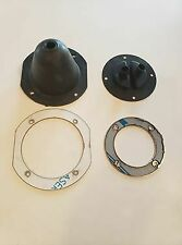 WILLYS JEEP CJ2A CJ3A CJ3B WILLYS  SHIFTER BOOT SET W/ POLISHED STAINLESS RINGS