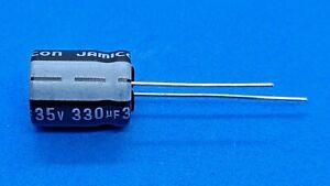 Elko, radial, 330µF (330uF) / 35V / 85°C, 10 Stk. (Ø10x12,5mm) - Jamicon SK