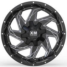 20x10 Xtreme Mudder XM 309 Wheels Black Milled Rims 35x12.50R20 Toyo MT Tires