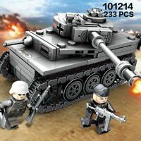 233PCS LEGO WW2 Germany Tank Army Toy Building Blocks Military Vehicles Kid Toys