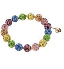 "$48 Betsey Johnson Stone Fireball Collar bracelet Rainbow 2-1/2"" q2"