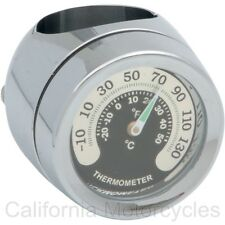 "TERMOMETRO MANILLAR PARA H-D® Y CUSTOM BIKES Handlebar Mount Thermometer 1"""