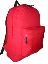 "Wholesale Case Lot 36 Red 18"" Basic Backpack School Bag Day pack Book bag-LM183"