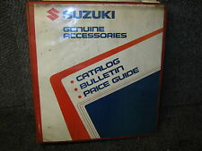 SUZUKI GENUINE ACCESSORIES CATALOG BULLETIN PRICE GUIDE 1989 STREET DIRT  AHRMA