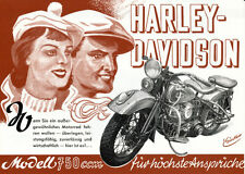 Harley-Davidson - WLD - 750ccm - Prospekt  - 1949  - Deutsch -  nl-Versandhandel