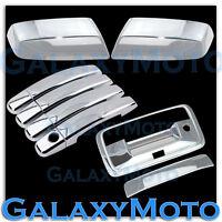 14-19 GMC Sierra Crew Cab Chrome Top Mirror+4 Door Handle+Tailgate w/Cam Cover