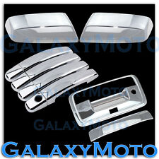 14-15 GMC Sierra Crew Cab Chrome Top Mirror+4 Door Handle+Tailgate w/Cam Cover