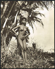 1950s Vintage Outdoor Nude Asian Indian Tamil Woman Jackson Photo Gravure Print
