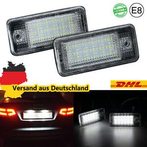 für Audi A3 8P - A4 B6 + B7 - A6 4F - A8 4H Q7 4L 4M Led Kennzeichenbeleuchtung