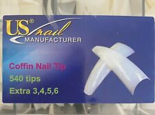 US Nail Manufacturer - Coffin Nail Tips 540 Tips ON SALE*