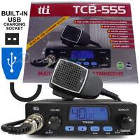 12v Car Truck Lorry TTI TCB-555 Multi Channel AM FM Compact CB Radio Transceiver