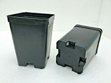 10 x VASI PLASTICA QUADRATI cm  7x7x10 *L 0,50 - PIANTE CARNIVORE, ITALIA - 10PZ