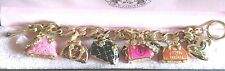 Juicy Couture Charm Bracelet w 5 Retired Purse Charms