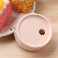 Plastic Leakproof Caps Lids w/Straw Hole Silicone Sealing O-ring for Mason Jars