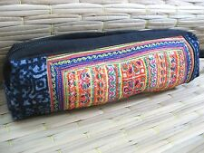 Thai Hmong Embroidered Clutch Bag Cosmetic Make Up Tribal Purse Pencil Case Coin