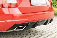 Rieger Heckeinsatz schwarz glänzend für Skoda Octavia RS (5E) Benziner: 0 ...