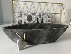 Decorative Slate Look Dish With Heart