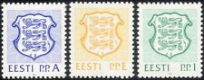 Estonia 1992 State Arms/Lions/Coats-of-Arms/Heraldry/Animals 3v set (ee1073)