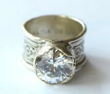 Silpada NIB Sterling Silver Queen for a Day Size 8 Huge CZ Israel Ring R2208