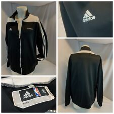 Los Angeles Clipper Adidas NBA Jacket XL Men Black Poly Zip NWOT YGI C0-987