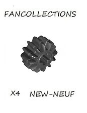 LEGO X 4 - Black Technic, Gear 12 Tooth Double Bevel - 32270 NEUF