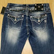 MISS ME Jeans MID-RISE EASY BOOT JE8059EZ 29x37 Embellished  *NEW NWT*  W052420