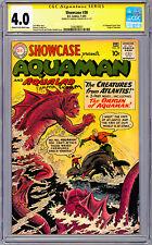 Dc Showcase #30 Cgc-Ss 4.0 *Signed Ramona Fradon* Creator 1St Sa Aquaman 1961