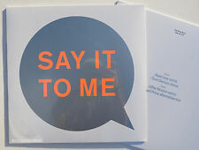 "PET SHOP BOYS 12"" Say It To Me 4 Track Vinyl REMIXES Sealed 2016"