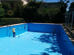 Pool Schwimmbeckenbeschichtung Polyurethan, Komplettsystem mit 5 Schichten