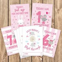 Baby Milestone Cards ~ 1st Year Memorable Moments Girl Girls Age