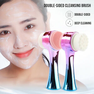 Manual Face Wash Brush Double-sided Facial Cleansing Scrub F. Gentle Exfoliating