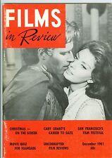 Charlton Heston Sophia Loren cov Films In Review magazine 1961 El Cid Cary Grant