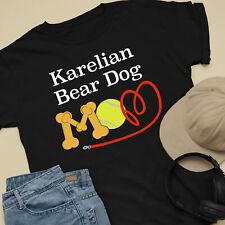 Karelian Bear Dog Mom and Dad Comfy Cute Dog Lover T-Shirt