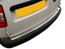 VW Caddy 2004-2015 Stainless Steel Chrome - Rear Bumper Protector - Cover
