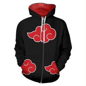 Uchiha Itachi Cosplay Hoodie Zip-up Jacket Sweatshirt Pullover Coat Gift