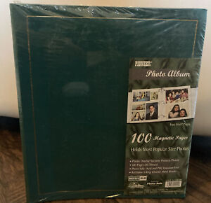 PIONEER Photo Album TEAL w/ 100 Magnetic Pages Sealed! Refillable Chrome Binder