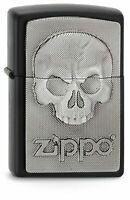 PERSONALISED PHANTOM SKULL GENUINE ZIPPO LIGHTER - FREE ENGRAVING