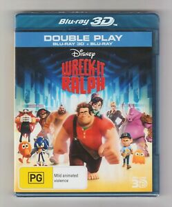 Wreck-It Ralph 3D Blu-ray + Blu-ray (2-Disc Set) Disney - Brand New & Sealed