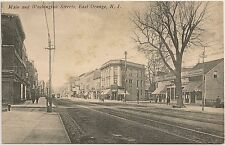 Main and Washington Streets in East Orange NJ Postcard