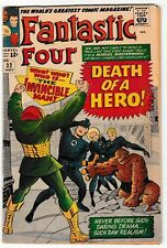 FANTASTIC FOUR #32 (VG/FN) INVINCIBLE MAN Cover Story Appearance!
