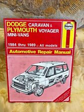 Dodge Caravan Plymouth Voyager Chrysler Town & Country #1231 Haynes Auto repair