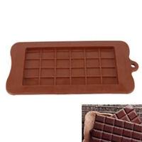 24 Grid Chocolate Mold Bar Block Ice Silicone Cake Candy Sugar Bake Mould Coffee
